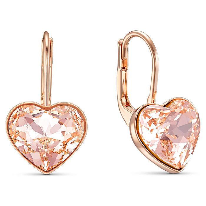 Swarovski øredobber Bella Heart Pierced Earrings, Pink, Rose-gold tone plated - 5515192