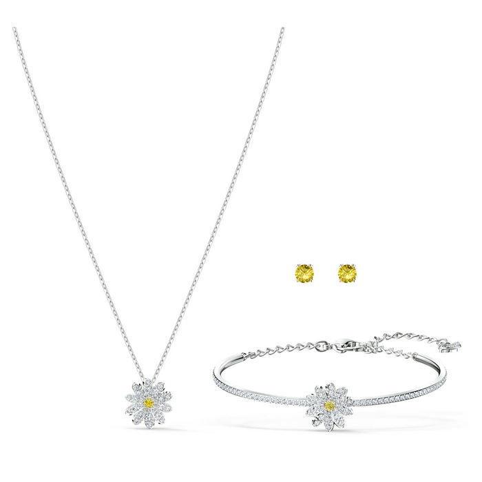 Swarovski smykkesett Eternal Flower, hvitt - 5518146