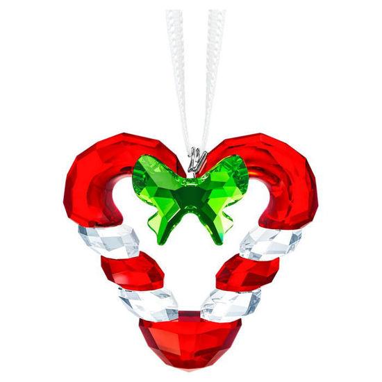 Swarovski figurer Candy Cane Heart Ornament - 5403314