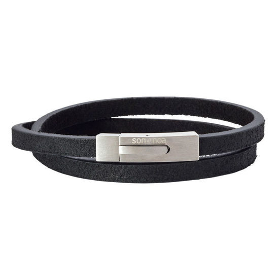 Herrearmbånd calf leather, svart. SON of NOA - 897006BLACK41
