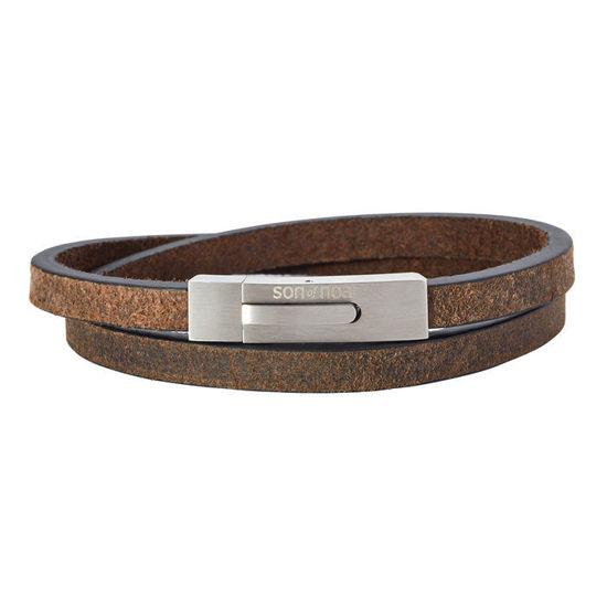 Herrearmbånd calf leather, mørkebrun. SON of NOA - 897006GREY43