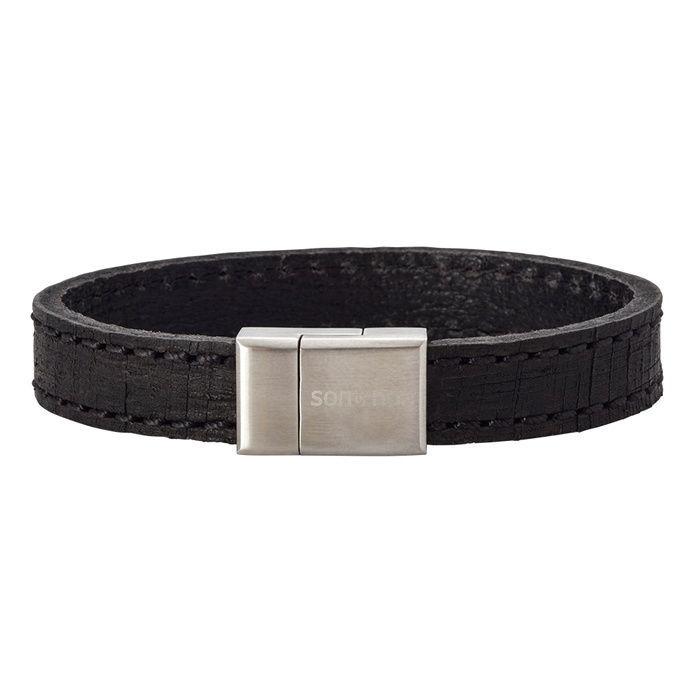 Herrearmbånd calf leather, svart. SON of NOA - 897005BLACK21