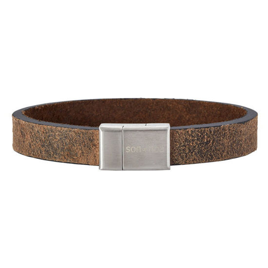 Herrearmbånd calf leather, mørkebrun. SON of NOA - 897004GREY21