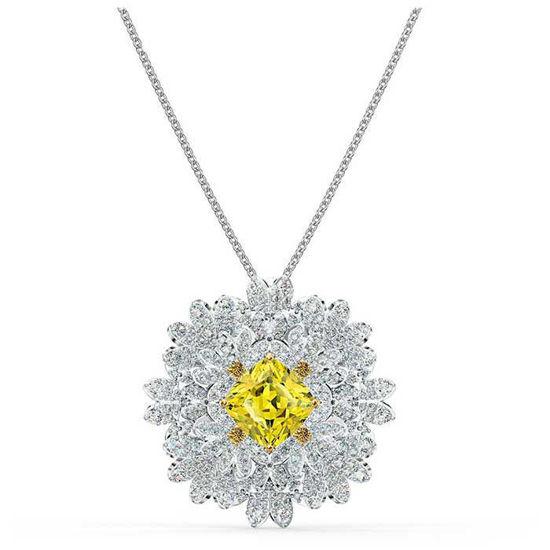 Swarovski smykke Eternal Flower Brooch, Yellow, Mixed metal finish - 5518147