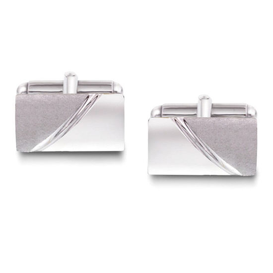Mansjettknapper i sølv med metall bakstykke. Rhodinert - 63871