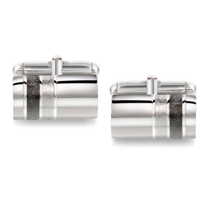 Mansjettknapper i sølv med metall bakstykke. Rhodinert - 63906