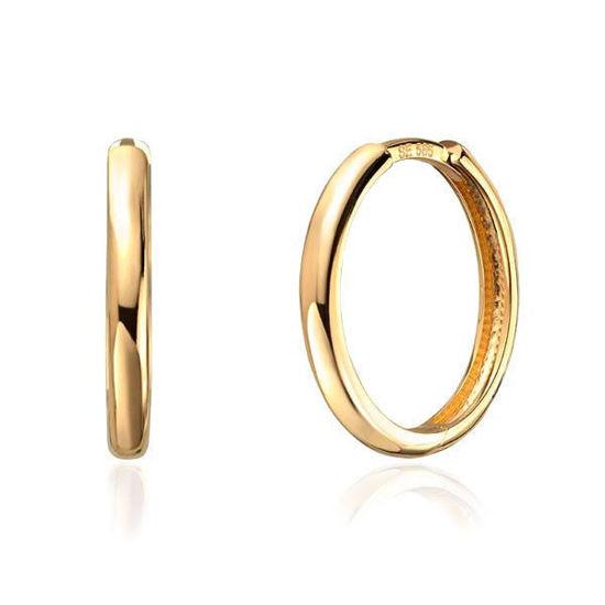 Øredobber i gult gull 14 kt, 2.3mm/17.6mm - 47339