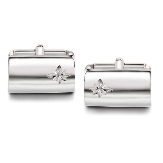 Mansjettknapper i sølv med metall bakstykke. Rhodinert - 63656