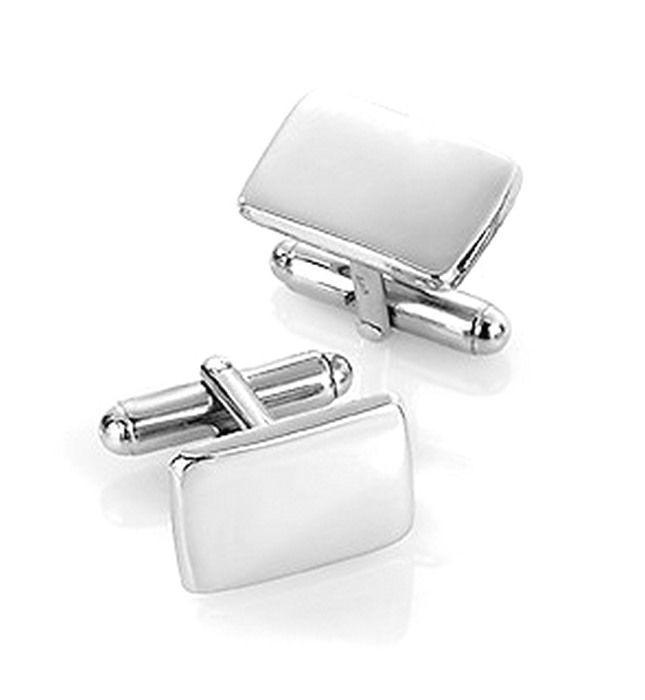 Mansjettknapper i sølv med metall bakstykke. Rhodinert - 63811