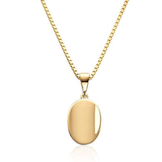 Smykke i gult gull 14kt, 13 mm - 27190