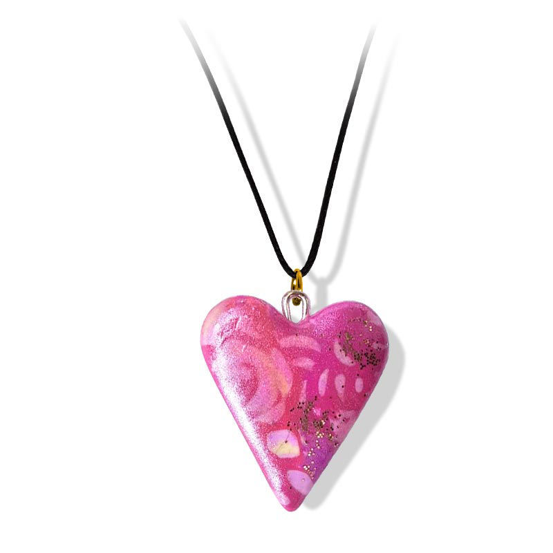 Håndlaget smykke, hjerte -2802046