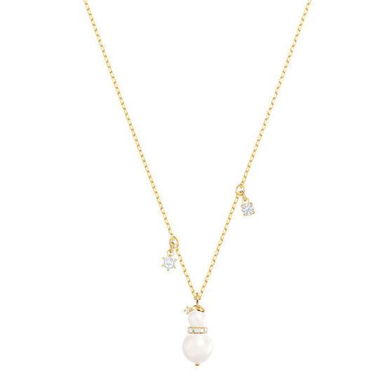 Swarovski smykke Little Snowman, gult - 5410652