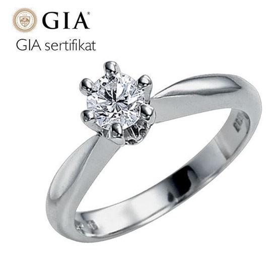 Diamantring - frierring Athene 0,40 ct D/E-Si2 med GIA-503661040