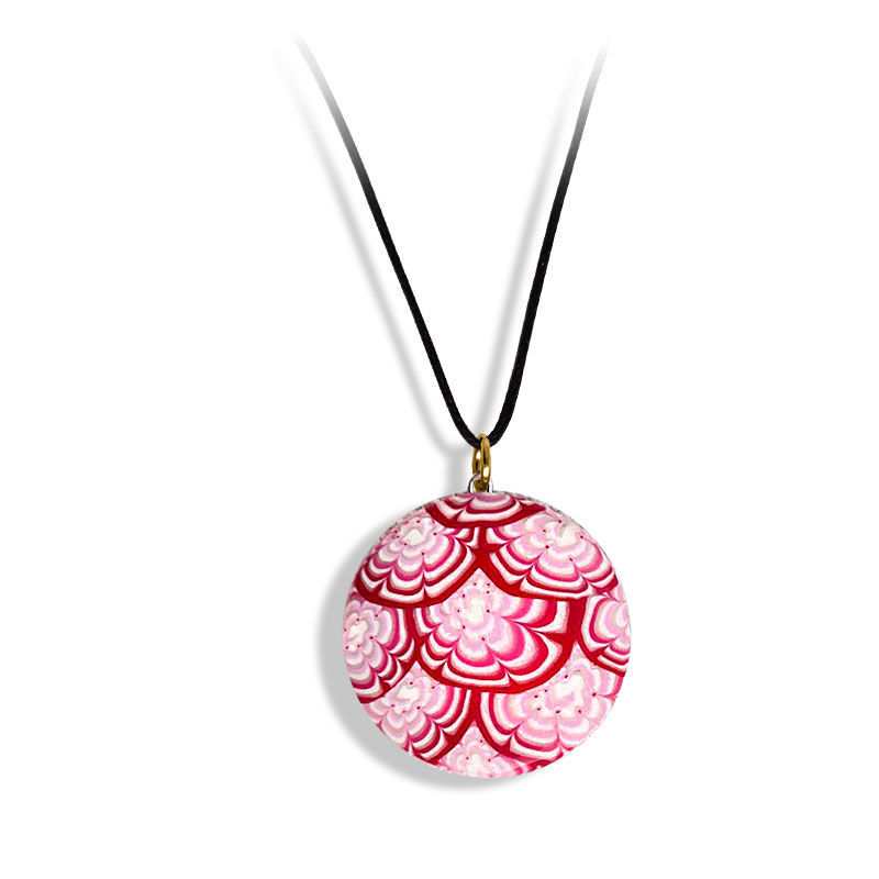 Smykke Krysantemum, rosa, håndlaget -28020710