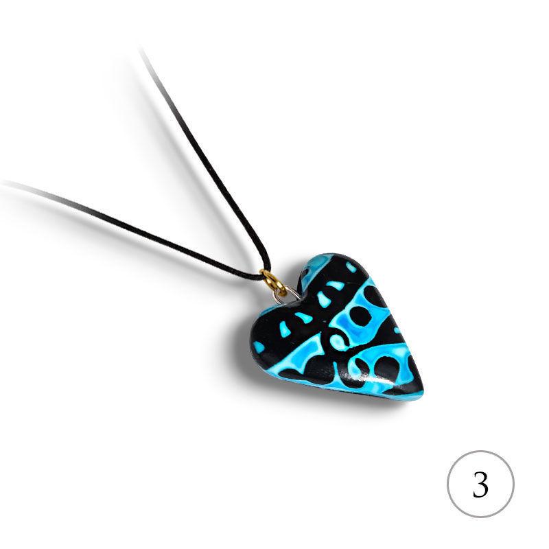 Hjertesmykke Hidden Magic, blått, håndlaget -28020695
