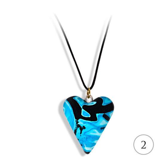 Hjertesmykke Hidden Magic, blått, håndlaget -28020696
