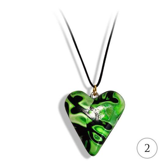 Hjertesmykke Hidden Magic, Grønn, håndlaget -28020704