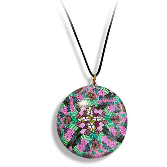 Smykke Kaleidoskop, Rosa og grønt, håndlaget -280207100