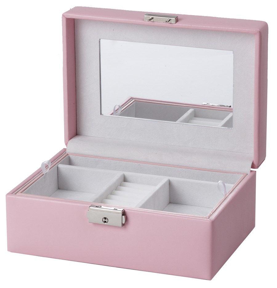 Smykkeskrin, rosa/hvit - 35609