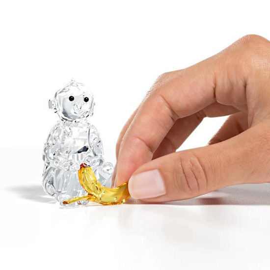 Swarovski figurer Monkey with Banana - 5524239