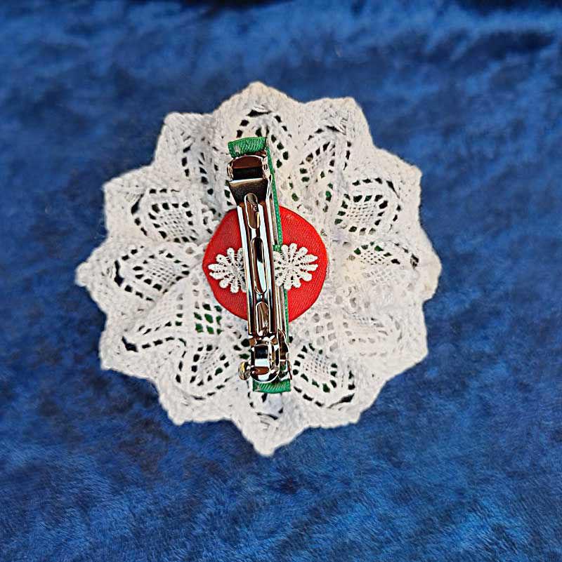 Håndlaget hårspenne til bunad & fest, 9 cm. EKSKLUSIVE - 310809