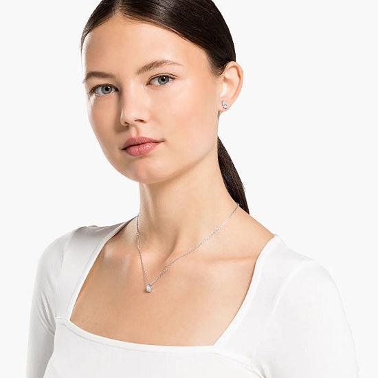 Swarovski smykkesett Attract Pear, hvitt - 5569174