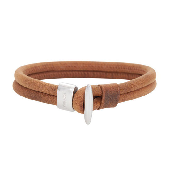 Herrearmbånd calf leather, brun. SON of NOA - 897007BROWN21