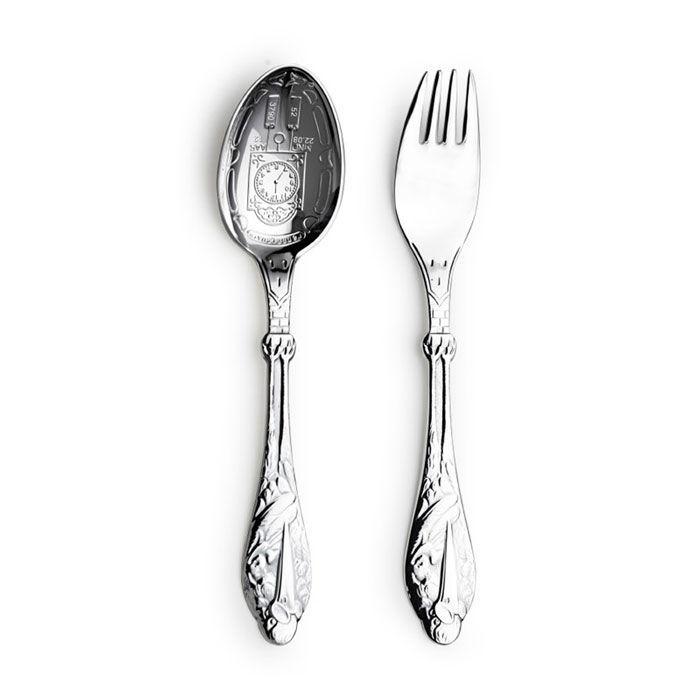 Sølv set skje og gaffel Stork - 18032