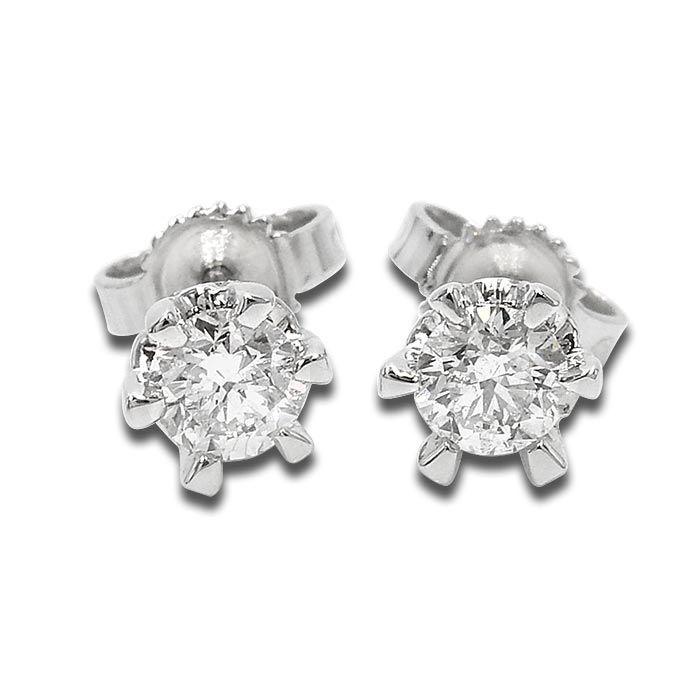 Diamant øredobber med 2/0,25ct TW-Si -189902025