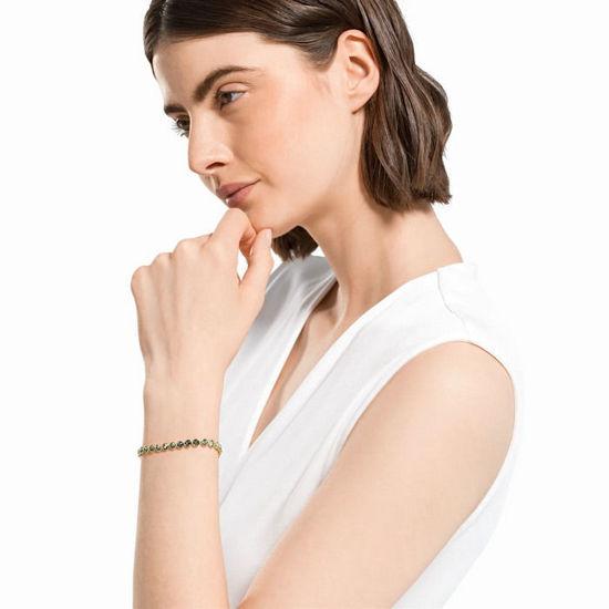 Swarovski armband Tennis Bracelet, grønn - 5555824