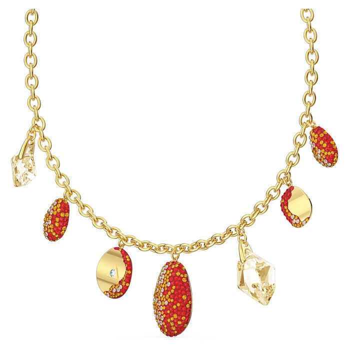 Swarovski collier The Elements Necklace, Red, Mixed metal finish - 5567365