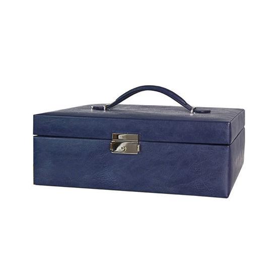 Smykkeskrin, blå, 305x210x105mm - 3463627