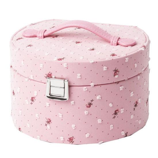 Smykkeskrin, rosa, 155x135x90mm - 3463760