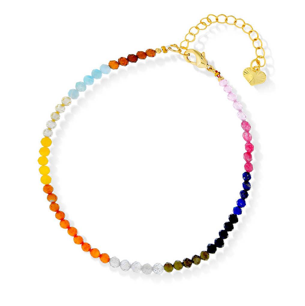 Armbånd med fargede stener - 990252