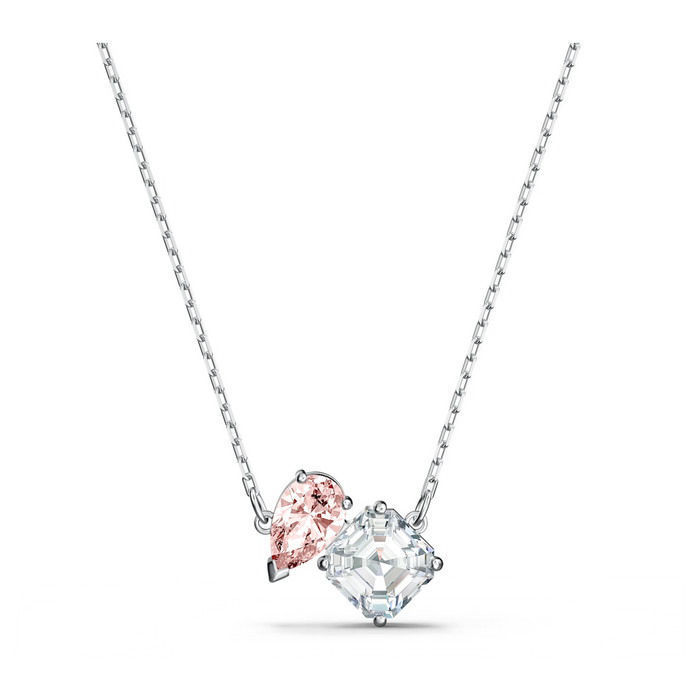Swarovski smykke Attract Soul Necklace, Pink, Rhodium plated  - 5517115