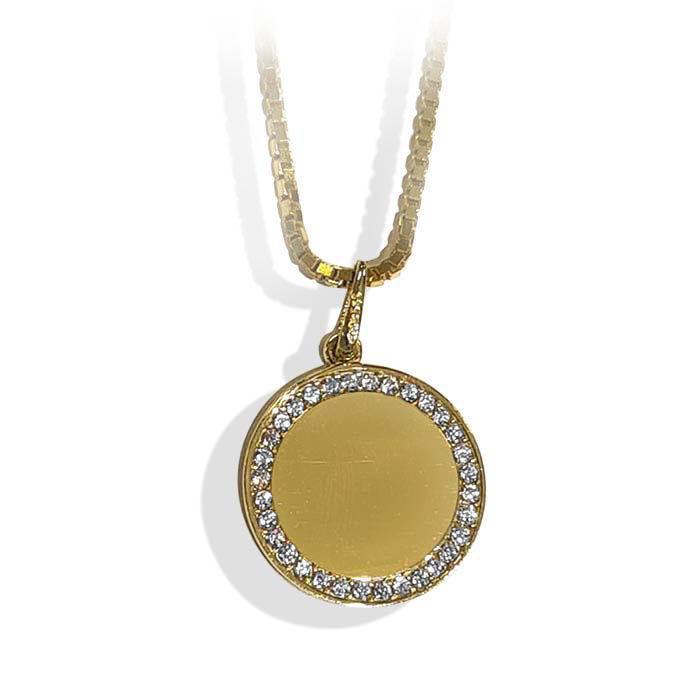 Smykke i gult gull med zirkonia - 1607340