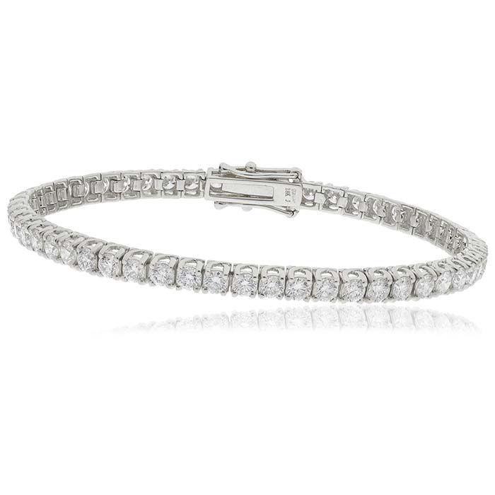 Armbånd i hvitt gull med diamanter 5,00 ct TW-Si- BI7725
