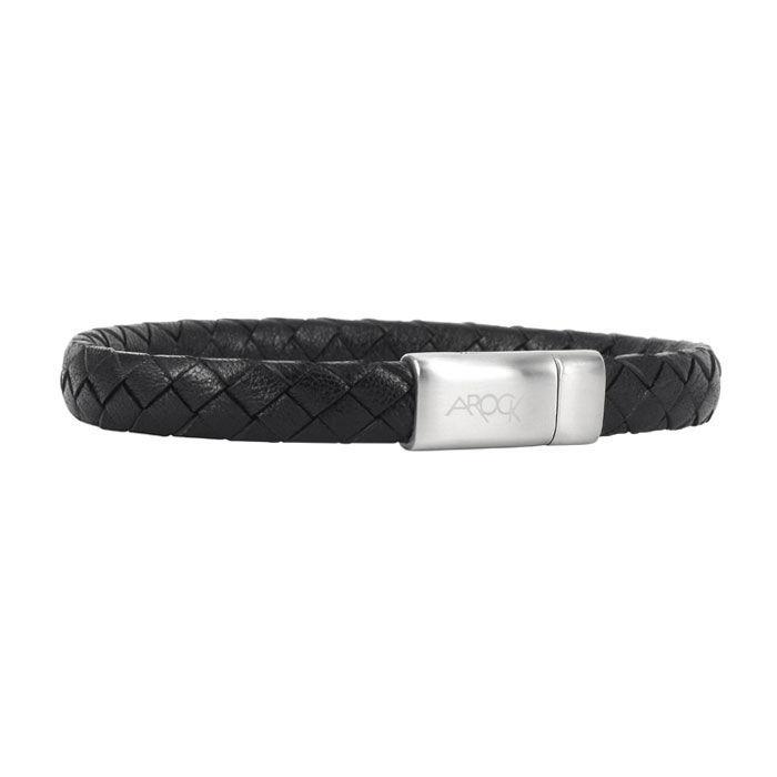 Armbånd Marc skinn og stål, svart - 521724399
