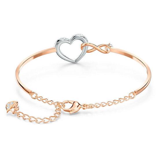 Swarovski armbånd Infinity Heart, rose - 5518869