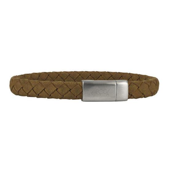 Armbånd Marc skinn og stål, camel - 521724300