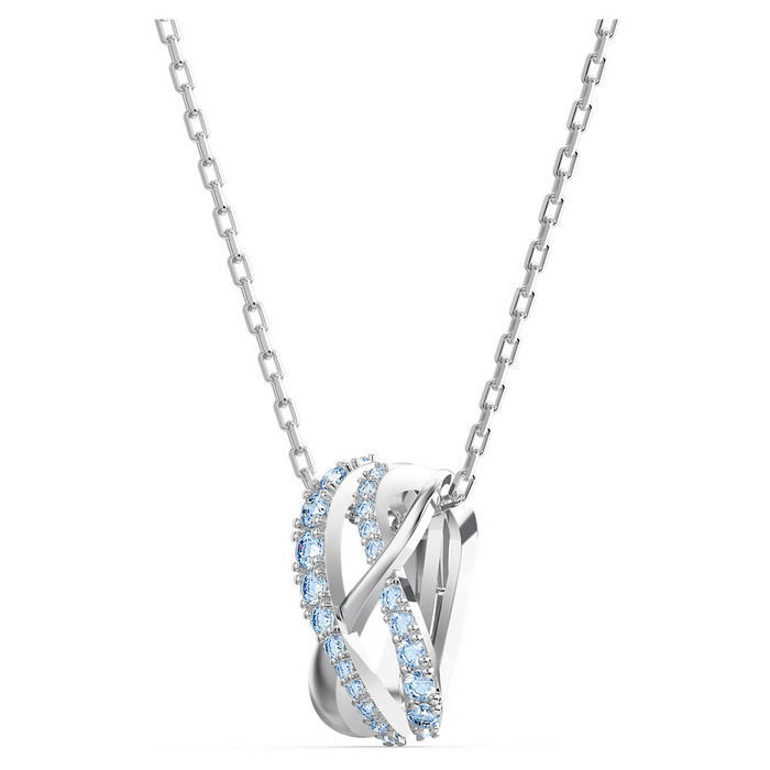 Swarovski smykke Twist Rows Pendant, Blue, Rhodium plated - 5582806