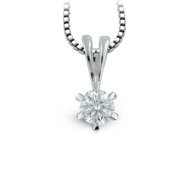 Diamantsmykke Athene i hvitt gull med 0,43 D-Si2-10990043