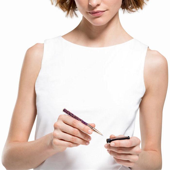 Swarovski pen Crystalline Gloss Ballpoint, svart og lilla - 5568758