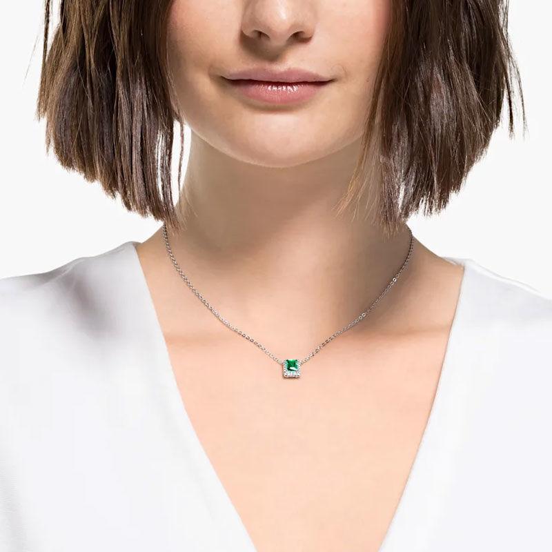 Swarovski smykke Angelic Rectangular, Green - 5559380