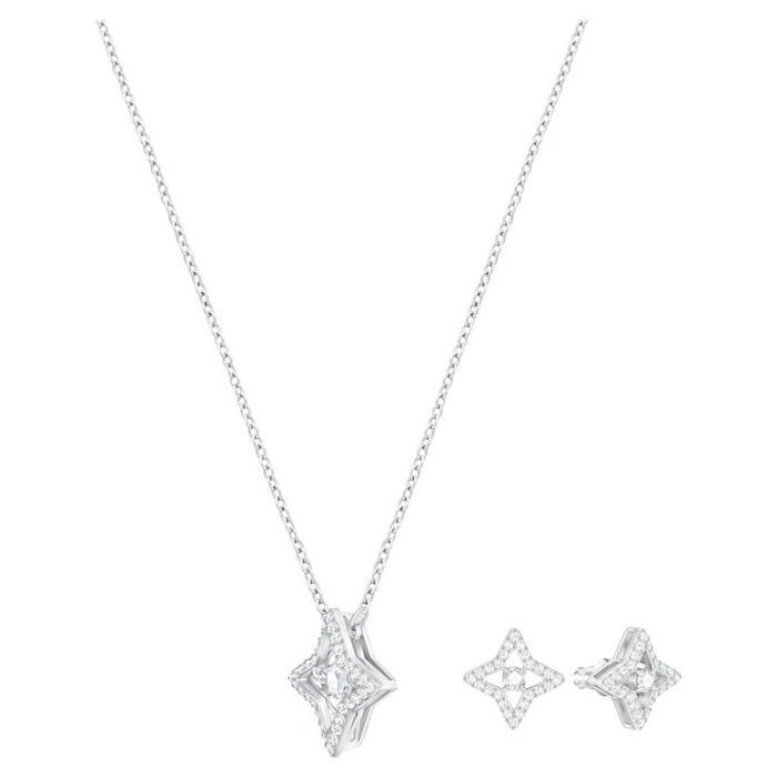 Swarovski smykkesett Sparkling Dance Star, hvitt - 5349667