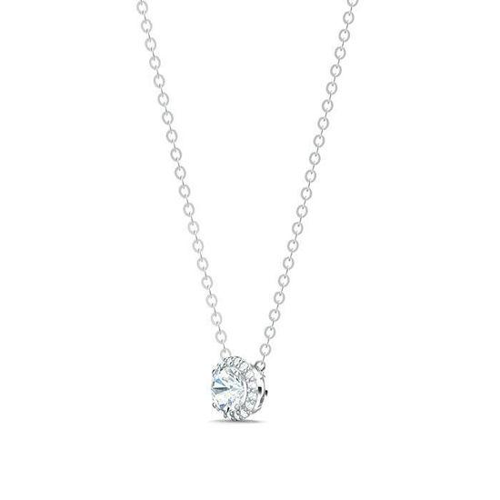 Swarovski smykke Angelic Round Pendant, White, Rhodium Plated - 5567931