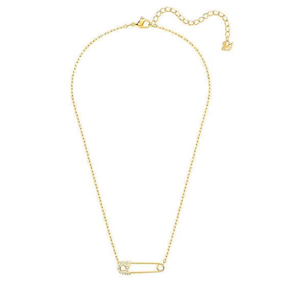 Swarovski smykke So Cool Pin Necklace, White, Gold-tone plated - 5512760