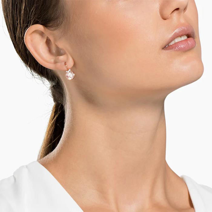 Swarovski øredobber Bella V, Rose gold plating - 5299318