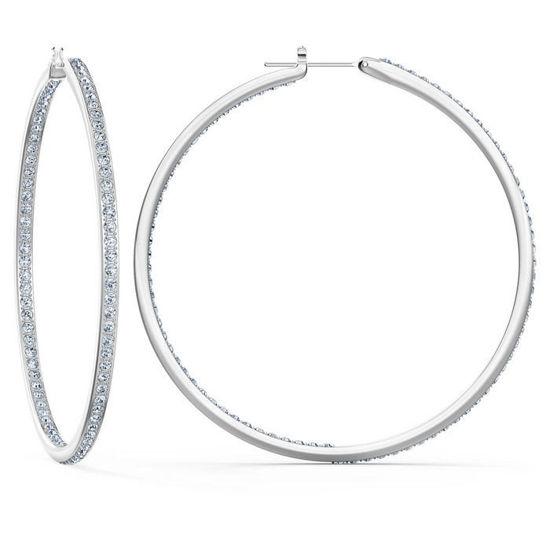 Swarovski øredobber Rare Hoop, hvitt - 5555724