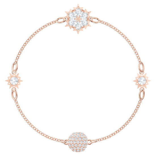Swarovski armbånd Snowflake, hvitt - 5512038